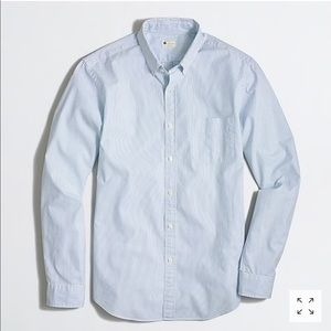 J. Crew | Sunwashed Oxford in Blue & White Stripe